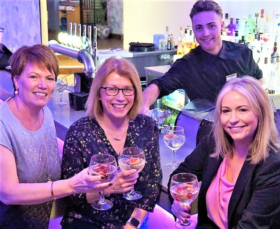 Margaret Steedman, Helen Doran and Lyndsey McCran some tips on the the arts of gin
