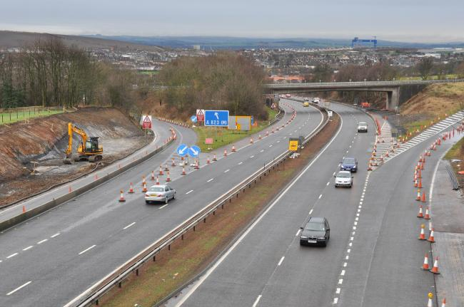The incident happened on the slip road to the M90