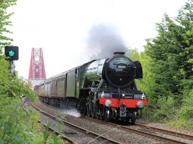World's most famous locomotive to steam through Dunfermline tomorrow