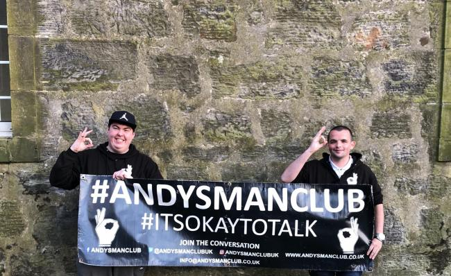 Craig Ingles, 24 and Ryan McKillop, 23, from Andy's Man Club in Dunfermline.